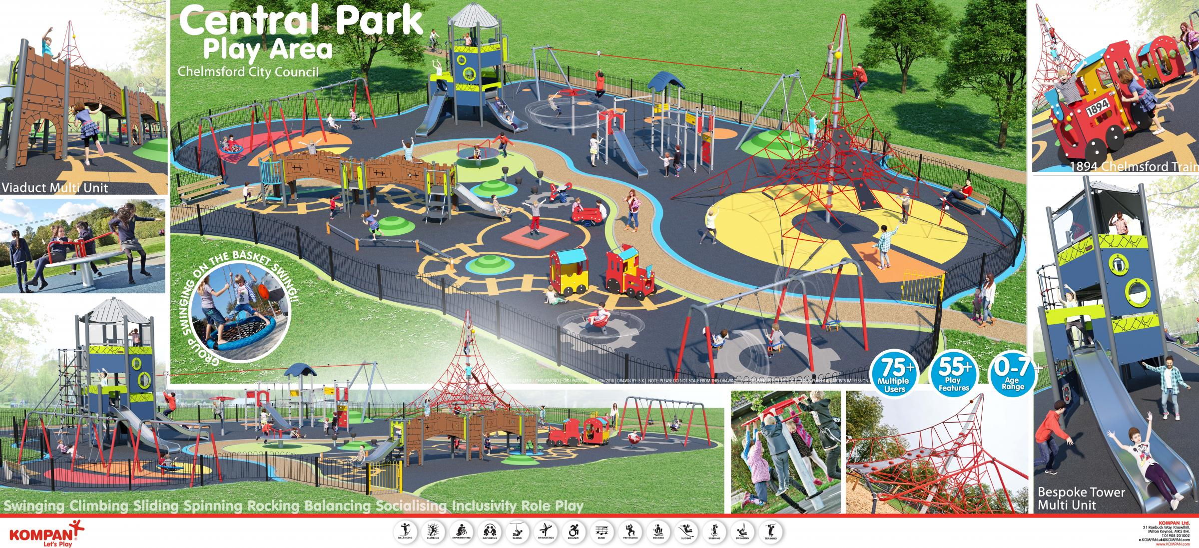 new play area in Central Park